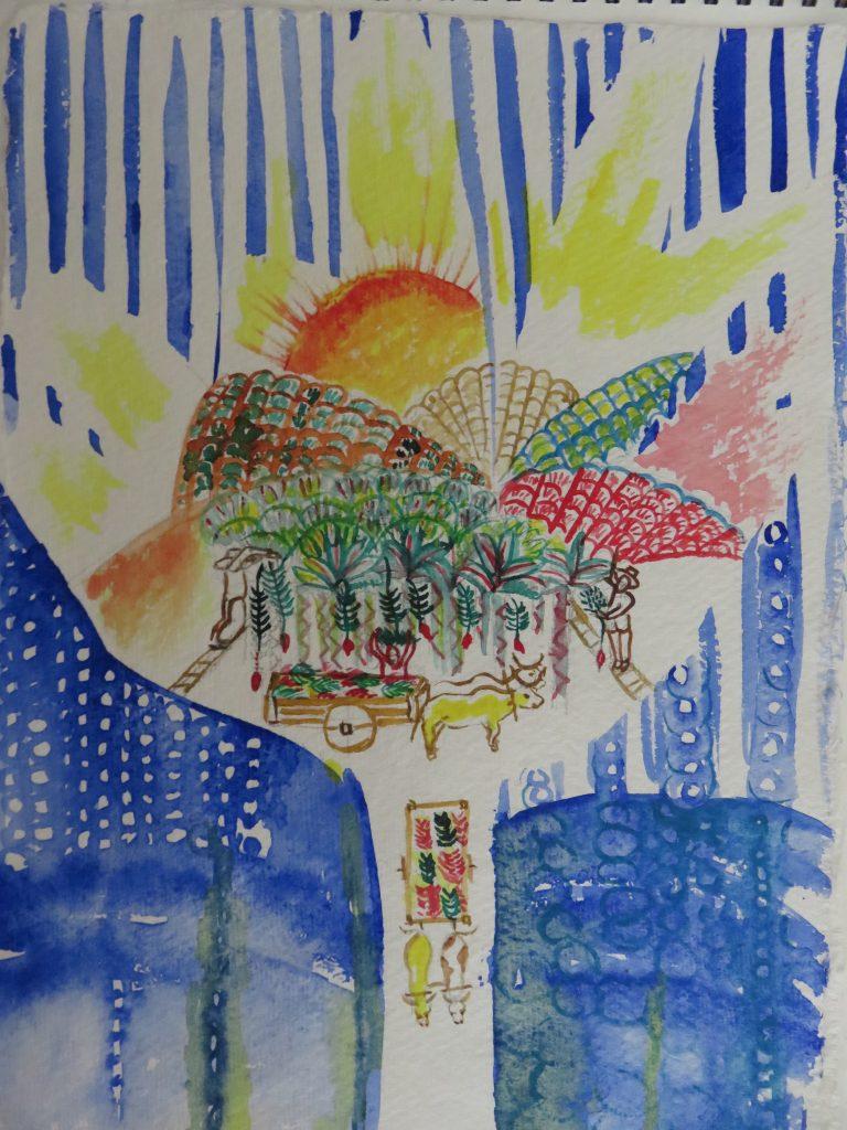 Essa obra é um estudo para a exposição individual B de Bananal - do 08/05 ao 12/06 no Museu Municipal de Socorro-SP