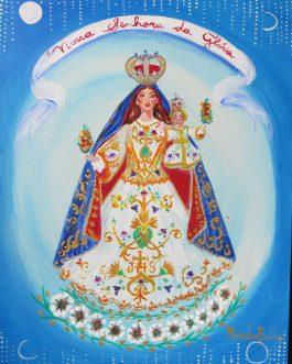 Nossa Senhora da Glória, AST, 40 x 30 cm.