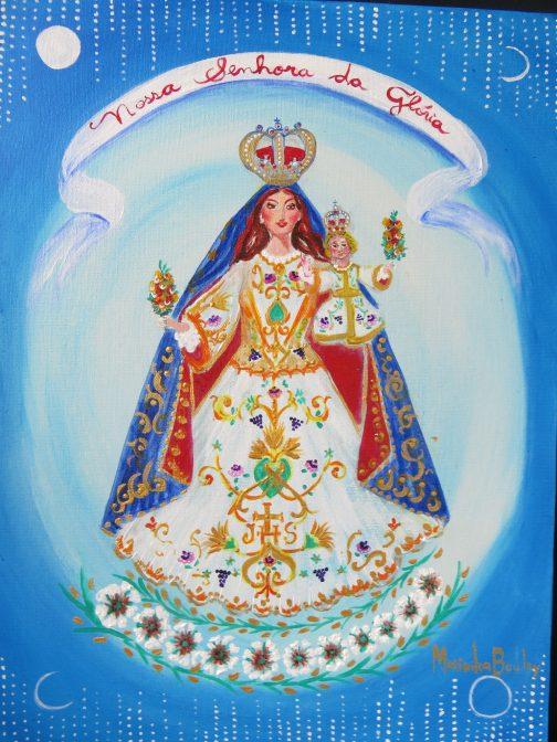Marinilda Boulay, Nossa Senhora da Glória, 2021. AST, 40 x 30 cm.