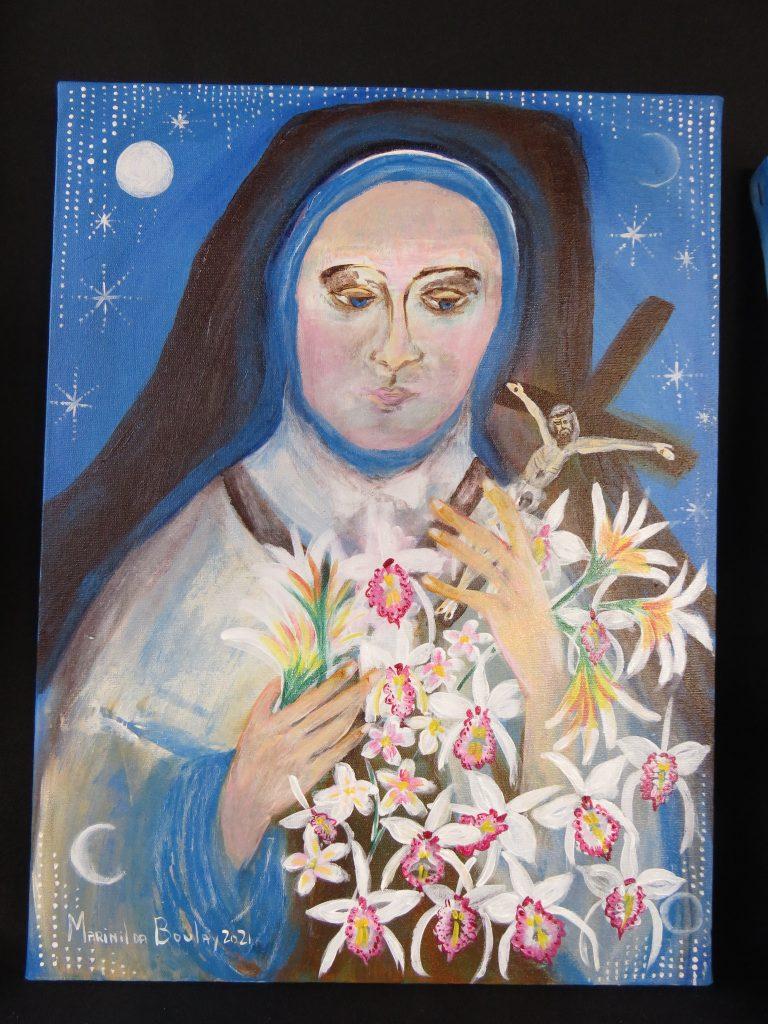 Marinilda Boulay, Santa Terezinha do Menino Jesus (Sainte Thérése de Liseux), 2021. AST, 40 x 30 cm.